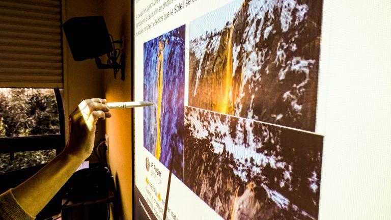Ecran interactif Pôle Universitaire de Vichy