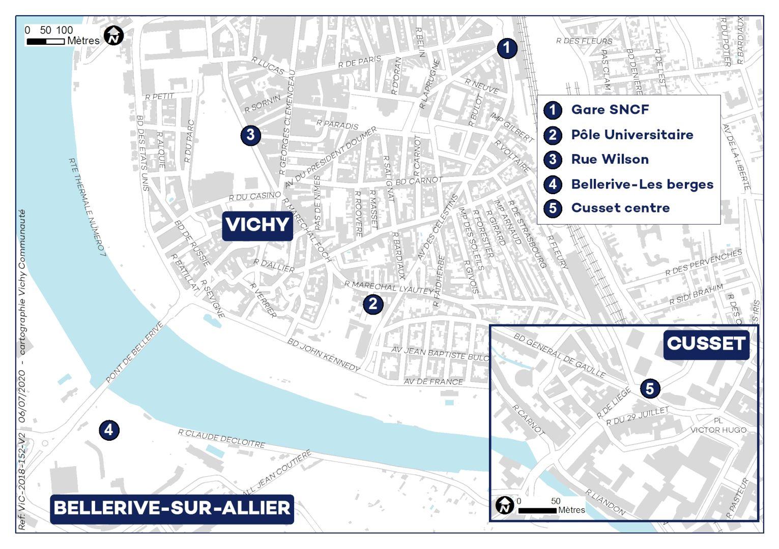 Carte implantation station Vivélo 2021
