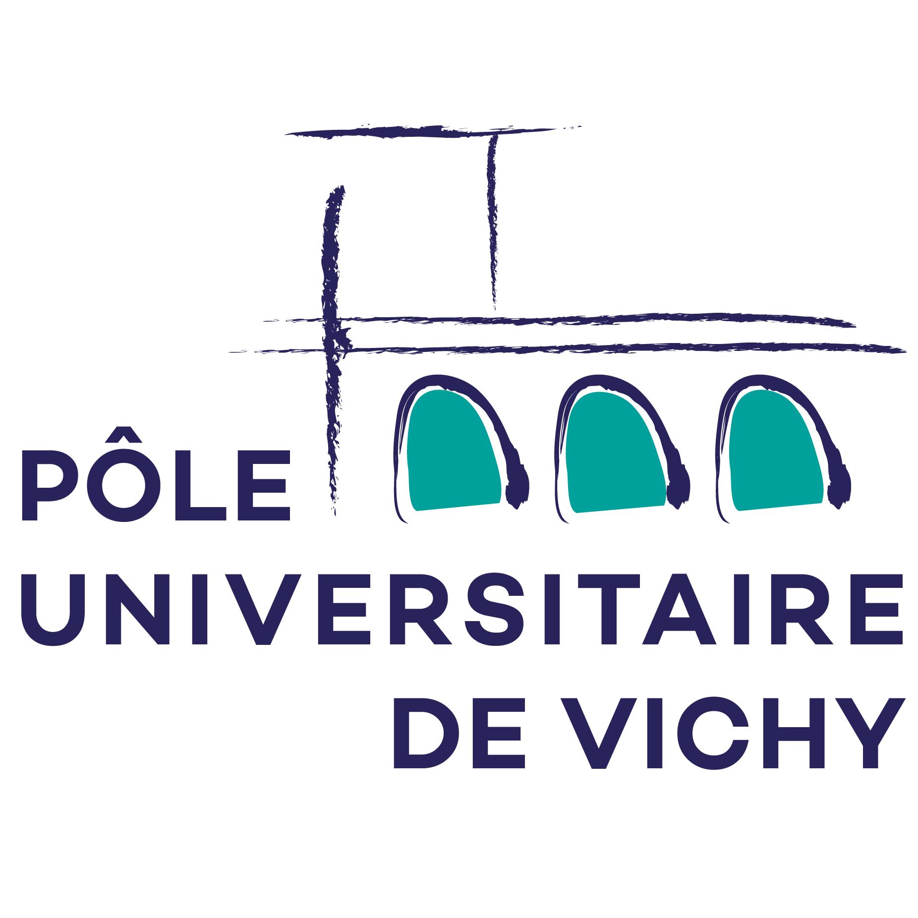 logo pole universitaire de vichy fond blanc
