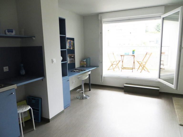 Logement étudiant les Docks de Blois Vichy - vue sur terrasse